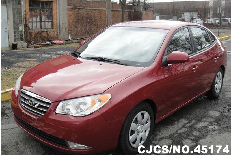 2008 left hand hyundai elantra red for sale stock no 45174 left hand used cars exporter. Black Bedroom Furniture Sets. Home Design Ideas