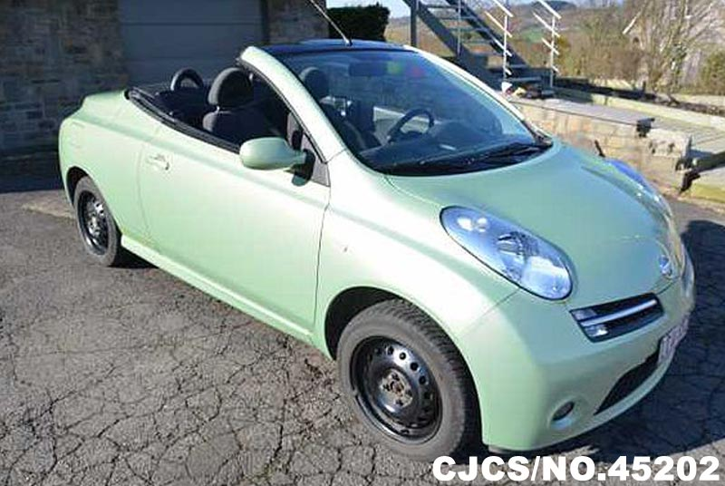 2008 left hand nissan micra green metallic for sale stock no 45202 left hand used cars exporter. Black Bedroom Furniture Sets. Home Design Ideas