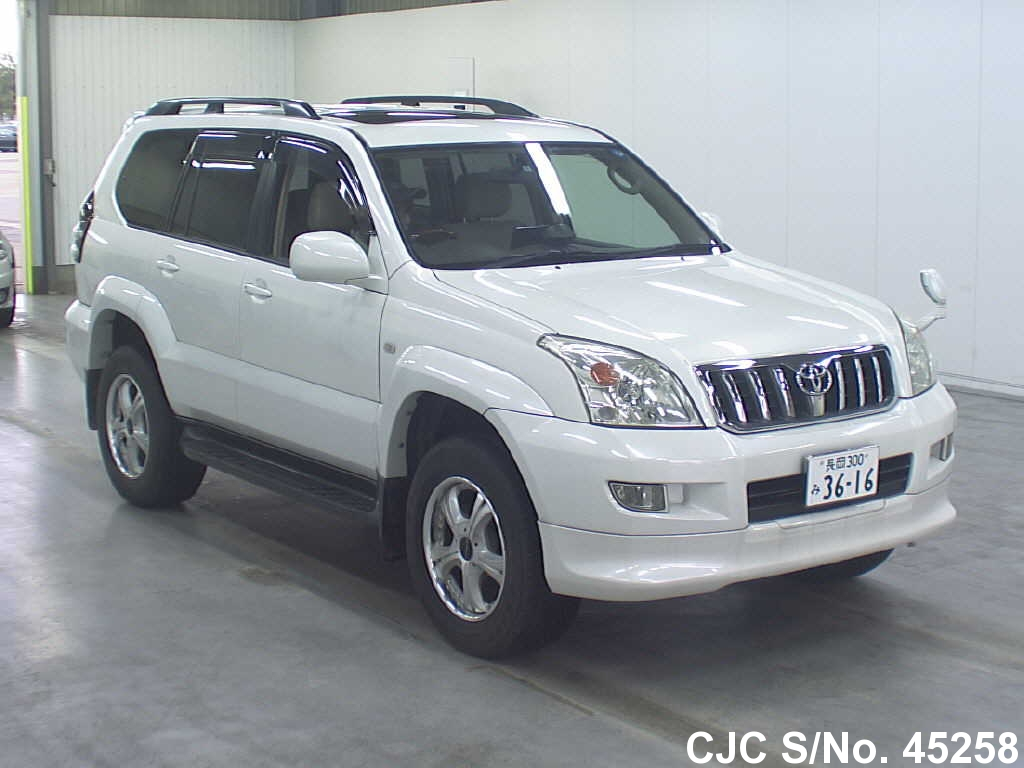2003 toyota land cruiser prado pearl for sale stock no. Black Bedroom Furniture Sets. Home Design Ideas