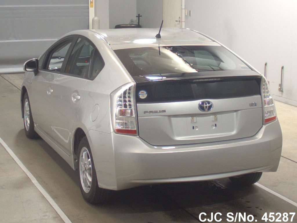 2009 toyota prius hybrid silver for sale stock no 45287 japanese used cars exporter. Black Bedroom Furniture Sets. Home Design Ideas
