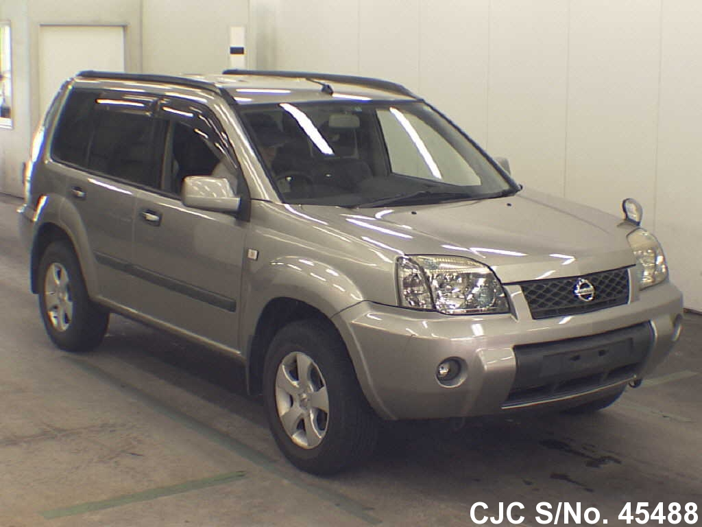 2004 nissan x trail gray for sale stock no 45488 japanese used cars exporter. Black Bedroom Furniture Sets. Home Design Ideas