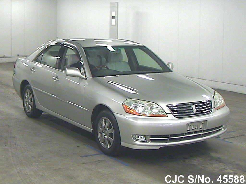 2003 toyota mark ii silver for sale stock no 45588 japanese used cars exporter. Black Bedroom Furniture Sets. Home Design Ideas