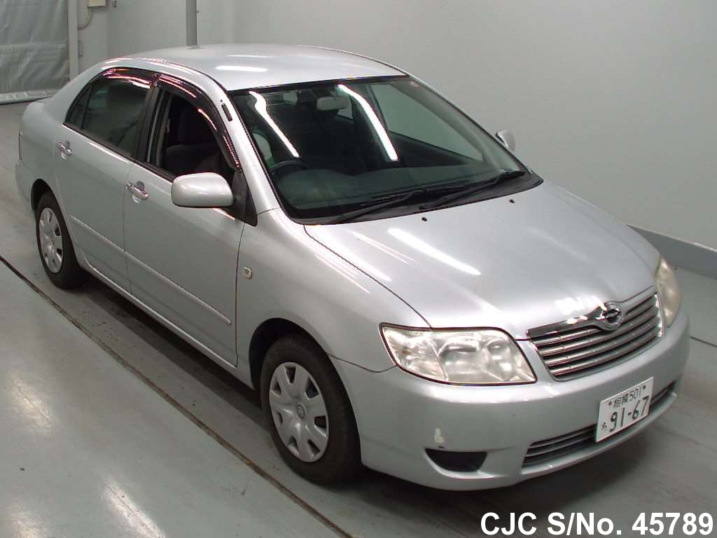 2006 toyota corolla silver for sale stock no 45789 japanese used cars exporter. Black Bedroom Furniture Sets. Home Design Ideas