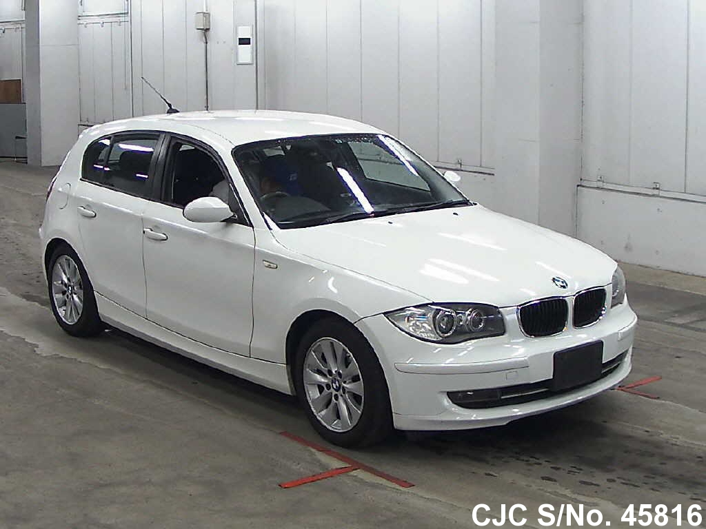 2009 bmw 1 series white for sale stock no 45816 japanese used cars exporter. Black Bedroom Furniture Sets. Home Design Ideas