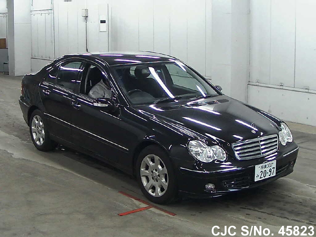 2005 mercedes benz c class black for sale stock no 45823 japanese used cars exporter. Black Bedroom Furniture Sets. Home Design Ideas
