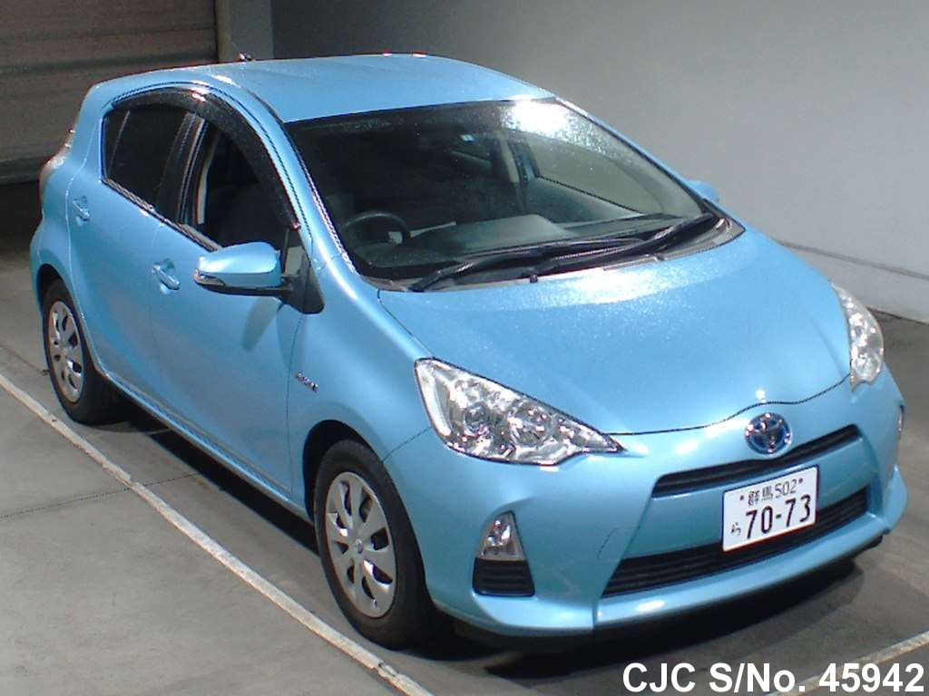 2012 Toyota Aqua Light Blue For Sale Stock No 45942