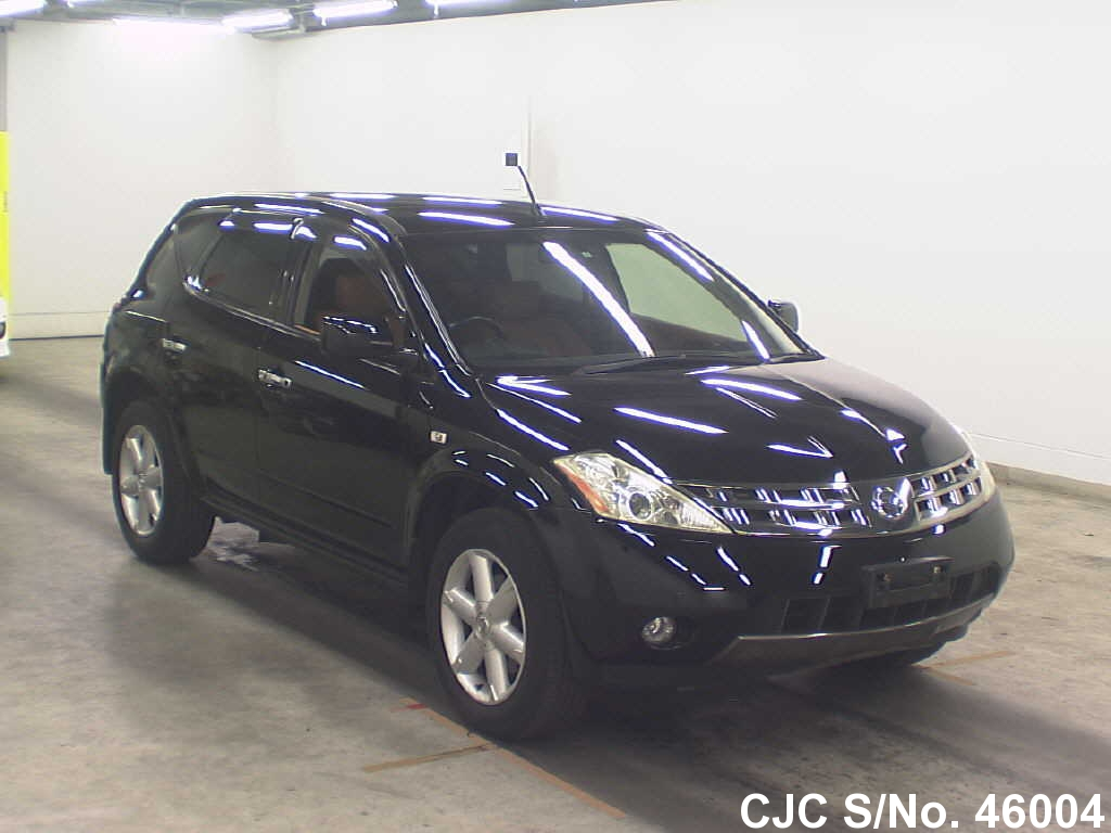 2005 nissan murano black for sale stock no 46004 japanese used cars exporter. Black Bedroom Furniture Sets. Home Design Ideas