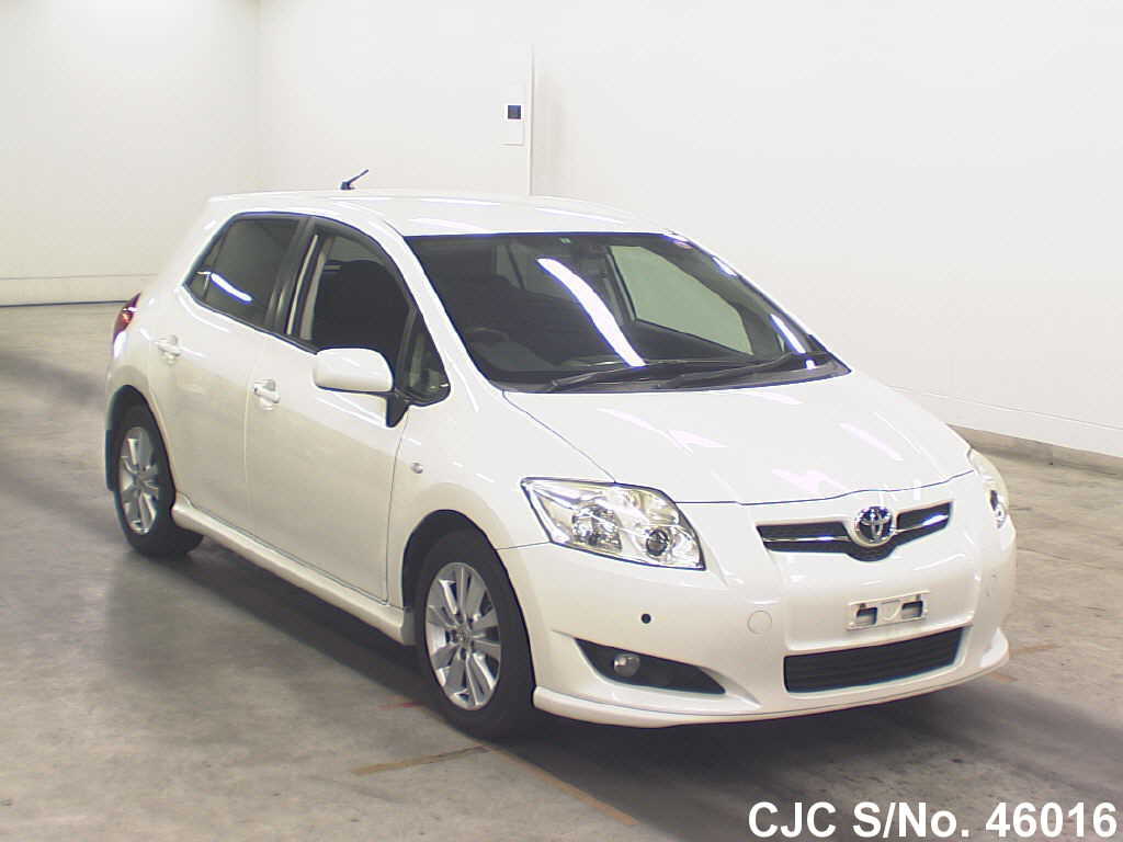 2007 toyota auris pearl white for sale stock no 46016 japanese used cars exporter. Black Bedroom Furniture Sets. Home Design Ideas