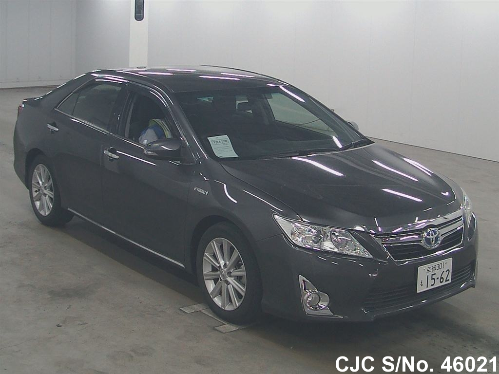 2012 toyota camry gray for sale stock no 46021 japanese used cars exporter. Black Bedroom Furniture Sets. Home Design Ideas