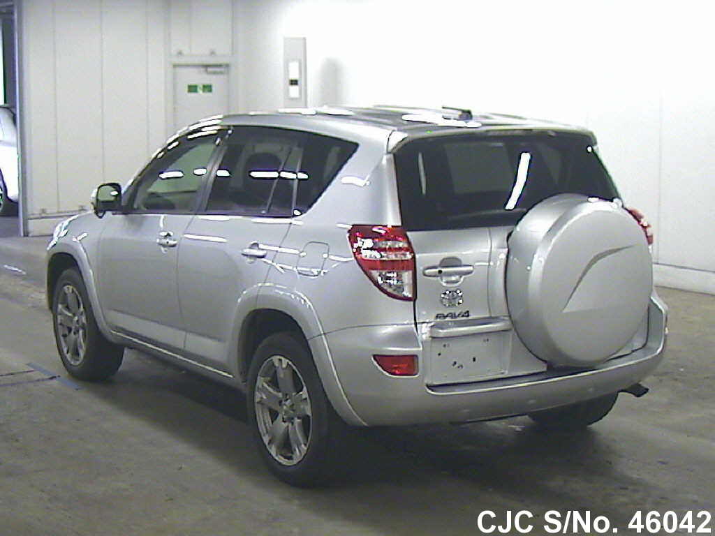 2009 toyota rav4 silver for sale stock no 46042 japanese used cars exporter. Black Bedroom Furniture Sets. Home Design Ideas