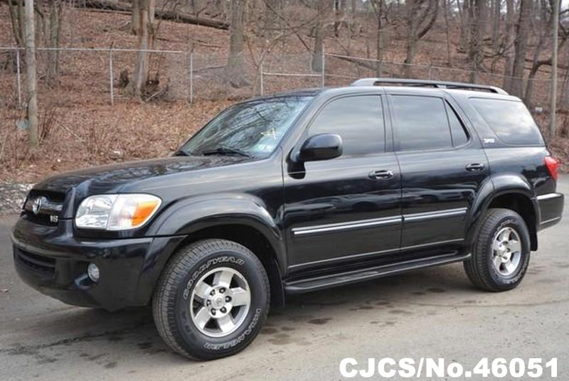 2005 left hand toyota sequoia black for sale stock no 46051 left hand used cars exporter. Black Bedroom Furniture Sets. Home Design Ideas