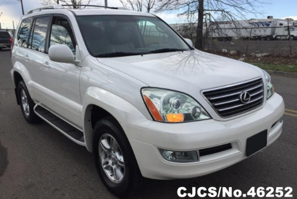 2007 left hand lexus gx 470 white for sale stock no. Black Bedroom Furniture Sets. Home Design Ideas