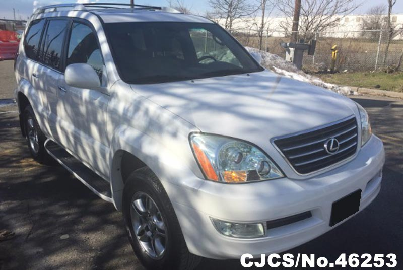 2008 left hand lexus gx 470 white for sale stock no 46253 left hand used cars exporter. Black Bedroom Furniture Sets. Home Design Ideas