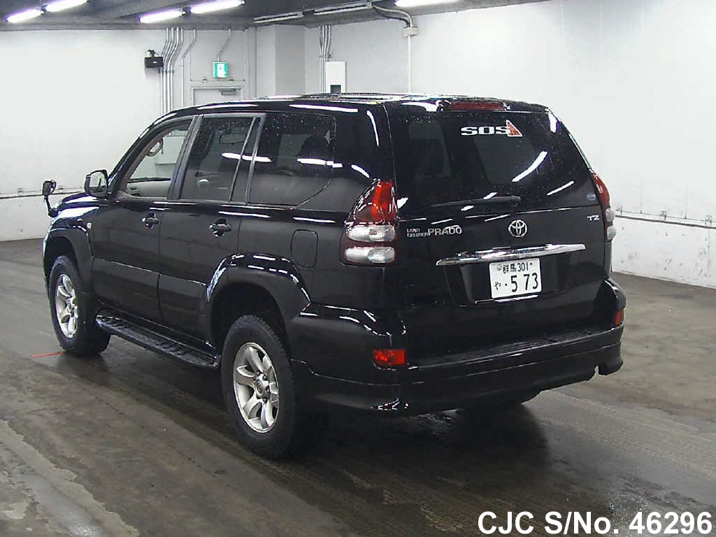 2003 toyota land cruiser prado black for sale stock no. Black Bedroom Furniture Sets. Home Design Ideas