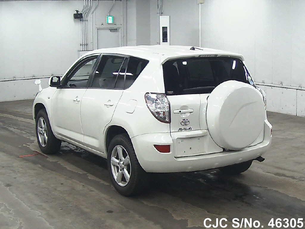 2007 toyota rav4 pearl for sale stock no 46305 japanese used cars exporter. Black Bedroom Furniture Sets. Home Design Ideas