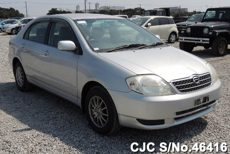 2002 toyota corolla silver for sale stock no 46416 japanese used cars exporter. Black Bedroom Furniture Sets. Home Design Ideas
