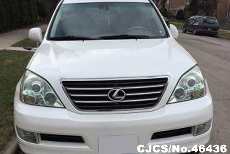 2004 left hand lexus gx 470 white for sale stock no. Black Bedroom Furniture Sets. Home Design Ideas