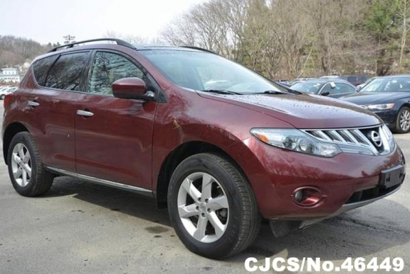 2010 left hand nissan murano burgundy for sale stock no 46449 left hand used cars exporter. Black Bedroom Furniture Sets. Home Design Ideas