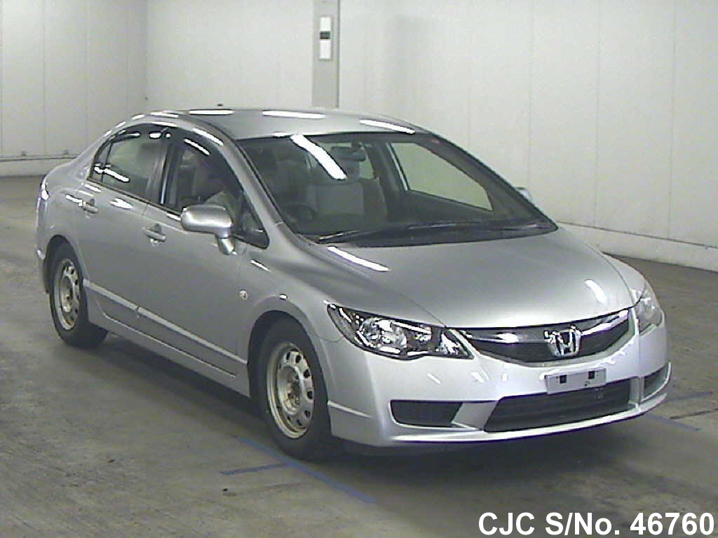 2009 honda civic hybrid silver for sale stock no 46760 japanese used cars exporter. Black Bedroom Furniture Sets. Home Design Ideas