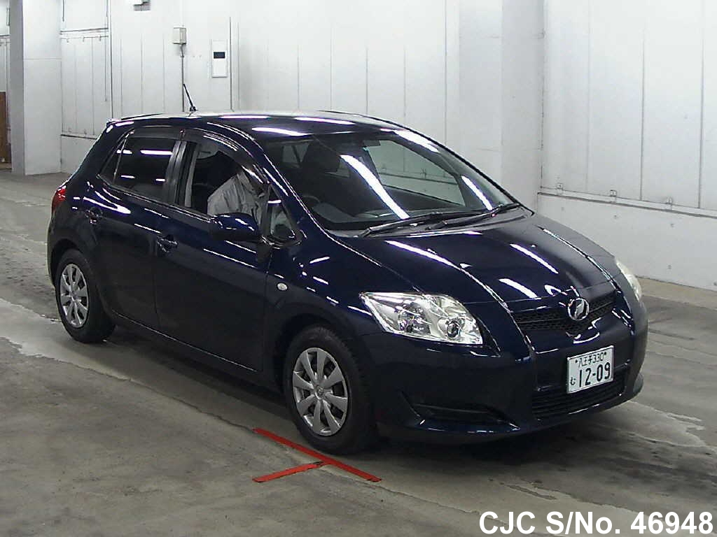 2008 toyota auris blue for sale stock no 46948 japanese used cars exporter. Black Bedroom Furniture Sets. Home Design Ideas