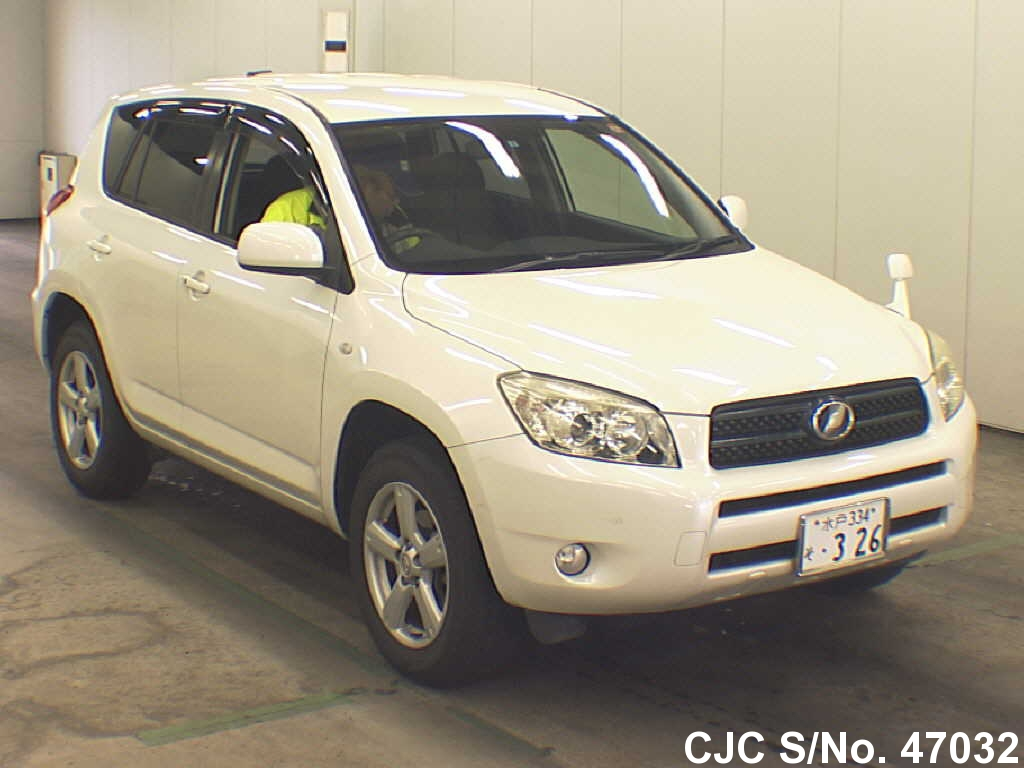 2006 toyota rav4 white for sale stock no 47032 japanese used cars exporter. Black Bedroom Furniture Sets. Home Design Ideas