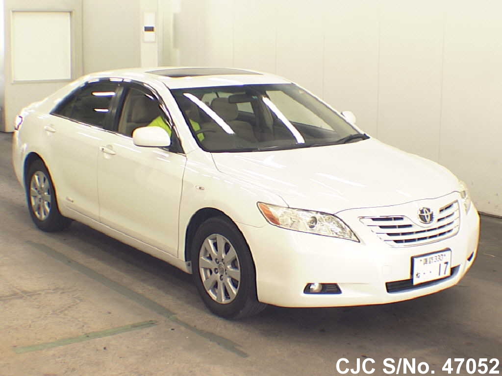 2006 toyota camry pearl for sale stock no 47052 japanese used cars exporter. Black Bedroom Furniture Sets. Home Design Ideas