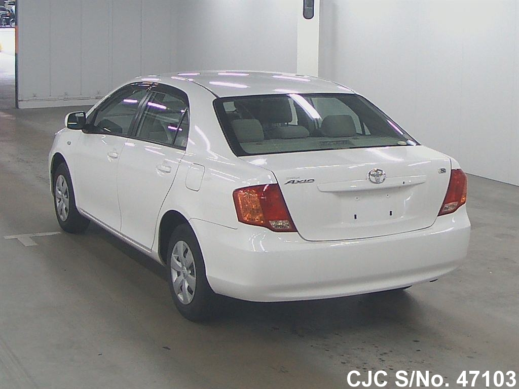 2008 toyota corolla axio white for sale stock no 47103 japanese used cars exporter. Black Bedroom Furniture Sets. Home Design Ideas