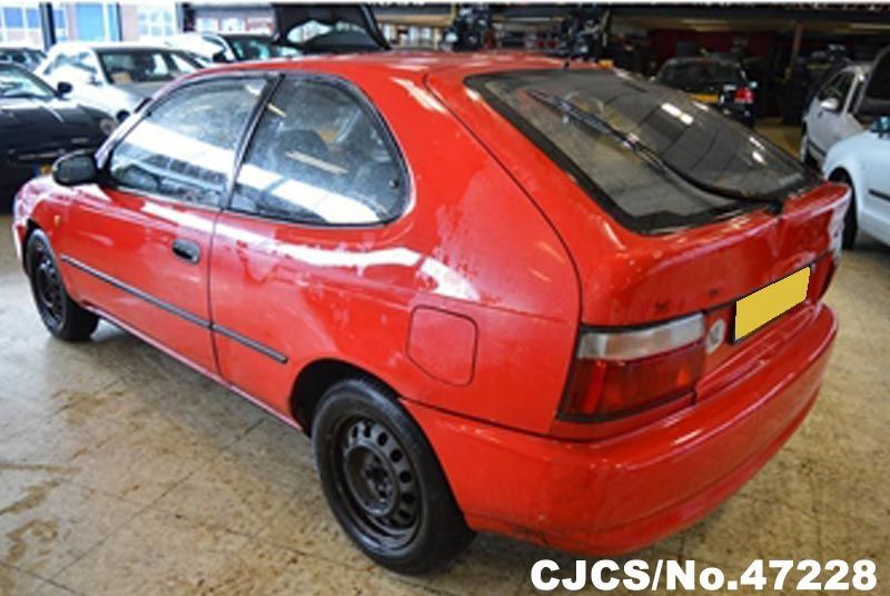 1995 left hand toyota corolla red for sale stock no 47228 left hand used cars exporter. Black Bedroom Furniture Sets. Home Design Ideas