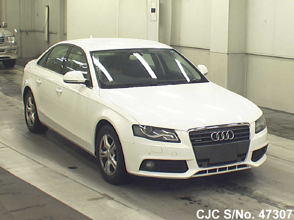 2009 audi a4 white for sale stock no 47307 japanese used cars exporter. Black Bedroom Furniture Sets. Home Design Ideas
