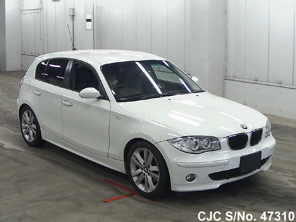 2005 bmw 1 series white for sale stock no 47310 japanese used cars exporter. Black Bedroom Furniture Sets. Home Design Ideas
