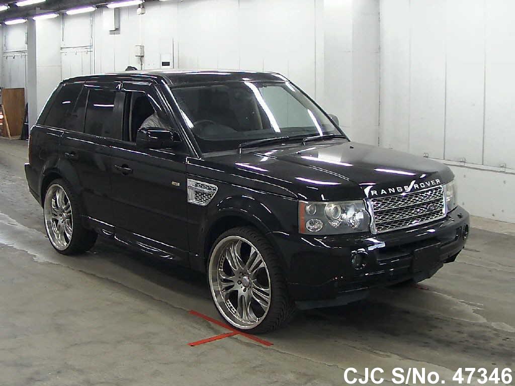 2006 land rover range rover sport black for sale stock no 47346 japanese used cars exporter. Black Bedroom Furniture Sets. Home Design Ideas