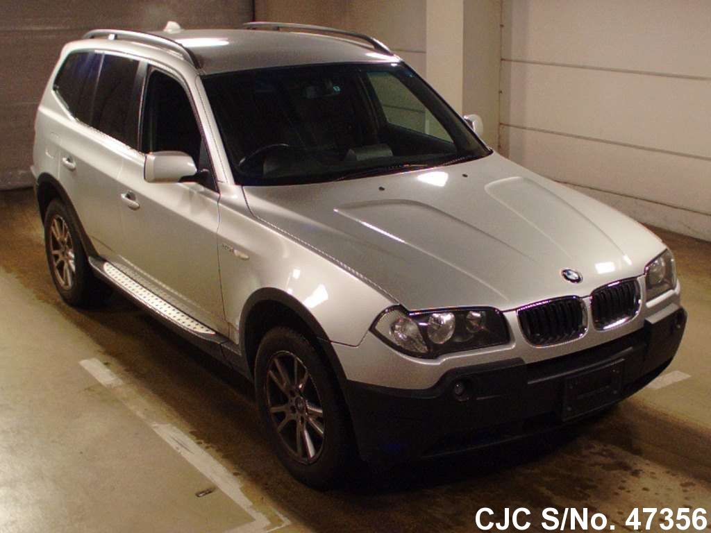 2005 bmw x3 silver for sale stock no 47356 japanese used cars exporter. Black Bedroom Furniture Sets. Home Design Ideas