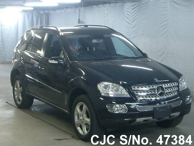 2007 mercedes benz ml class black for sale stock no 47384 japanese used cars exporter. Black Bedroom Furniture Sets. Home Design Ideas