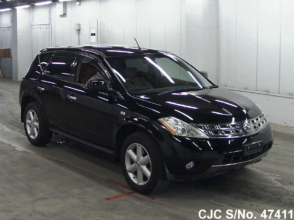 2005 nissan murano black for sale stock no 47411 japanese used cars exporter. Black Bedroom Furniture Sets. Home Design Ideas