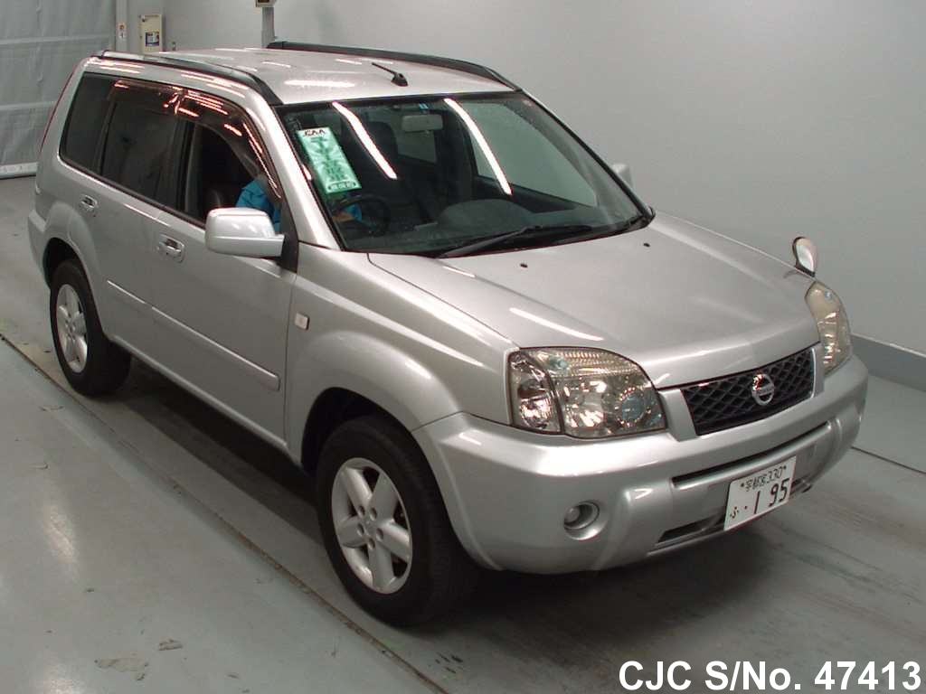 2004 nissan x trail silver for sale stock no 47413 japanese used cars exporter. Black Bedroom Furniture Sets. Home Design Ideas