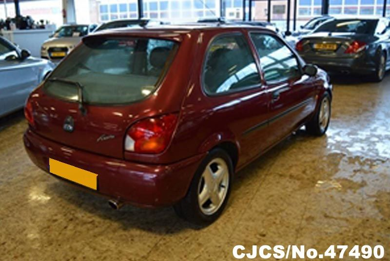 1999 left hand ford fiesta red metallic for sale stock no 47490 left hand used cars exporter. Black Bedroom Furniture Sets. Home Design Ideas
