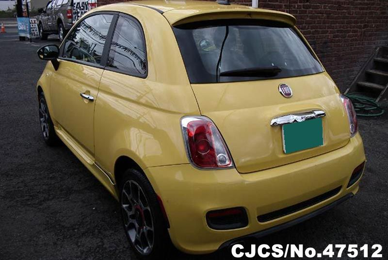 2012 left hand fiat 500 yellow for sale stock no 47512 left hand used cars exporter. Black Bedroom Furniture Sets. Home Design Ideas