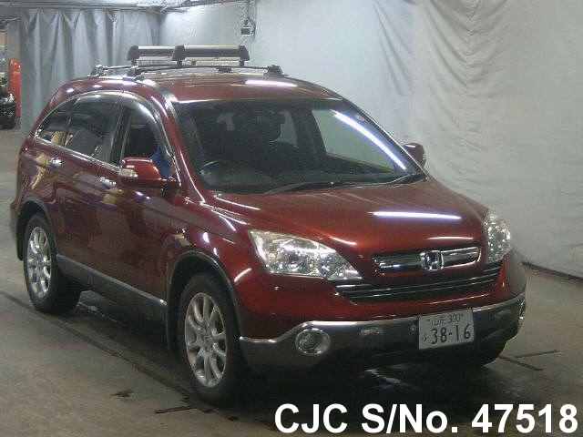 2006 honda crv wine red for sale stock no 47518 japanese used cars exporter. Black Bedroom Furniture Sets. Home Design Ideas