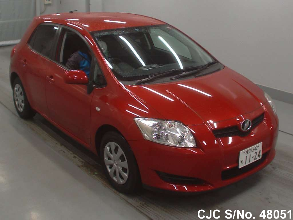 2008 toyota auris red for sale stock no 48051 japanese used cars exporter. Black Bedroom Furniture Sets. Home Design Ideas