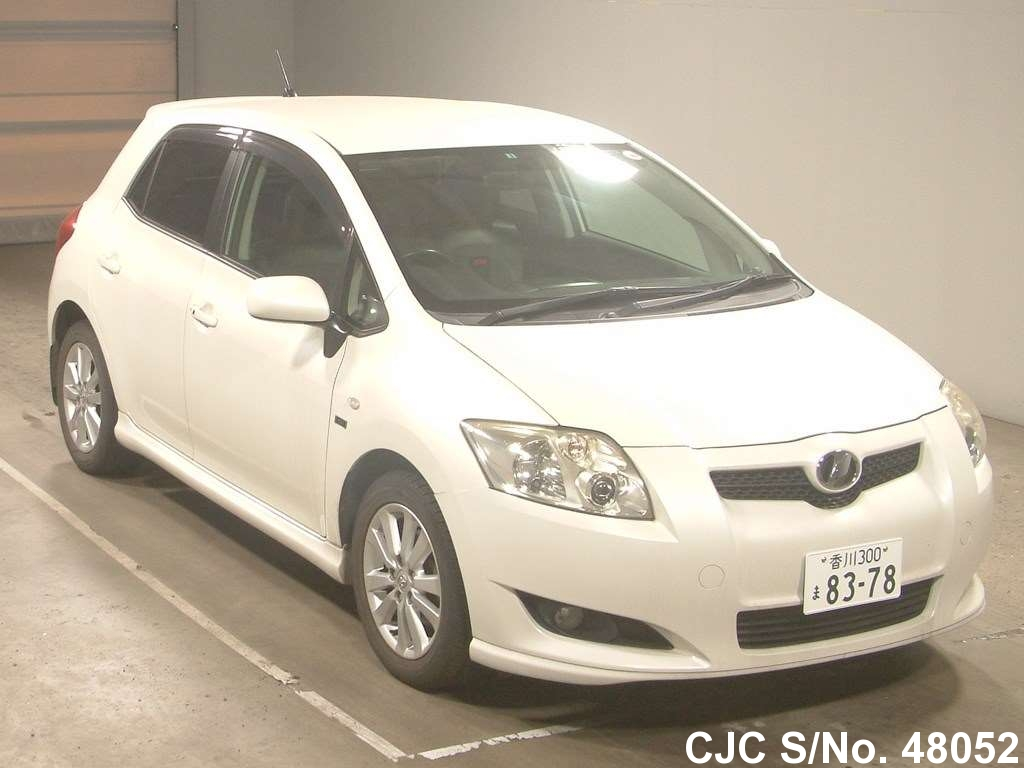 2008 toyota auris pearl for sale stock no 48052 japanese used cars exporter. Black Bedroom Furniture Sets. Home Design Ideas