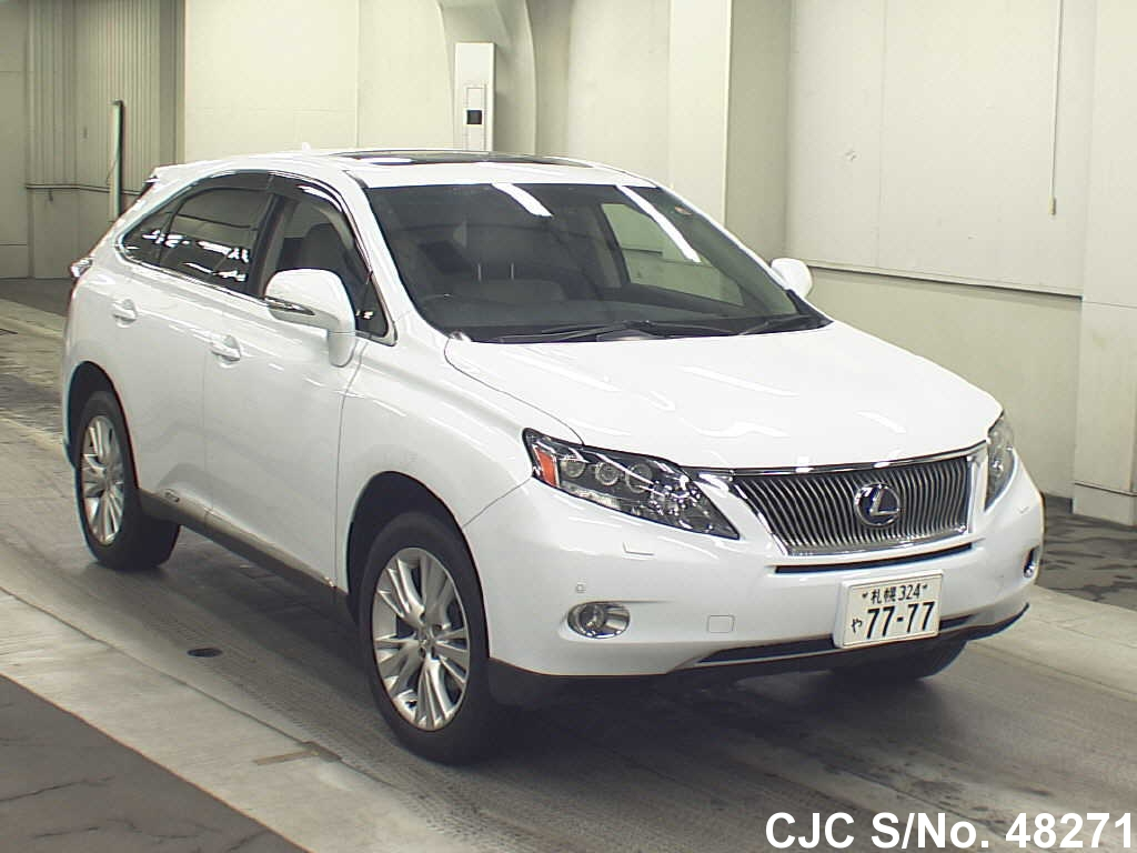 2009 lexus rx 450h pearl for sale stock no 48271 japanese used cars exporter. Black Bedroom Furniture Sets. Home Design Ideas