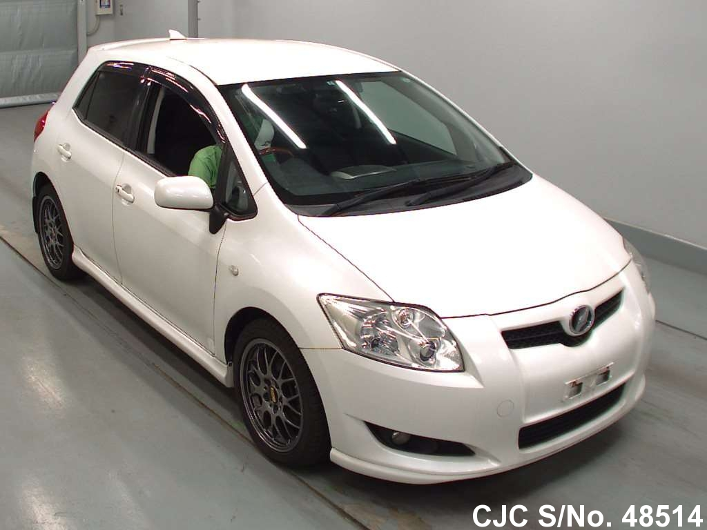 2007 toyota auris pearl for sale stock no 48514 japanese used cars exporter. Black Bedroom Furniture Sets. Home Design Ideas