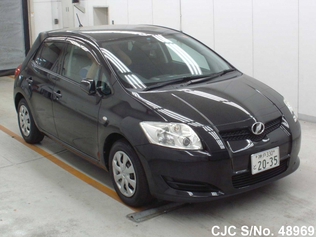 2008 toyota auris black for sale stock no 48969 japanese used cars exporter. Black Bedroom Furniture Sets. Home Design Ideas