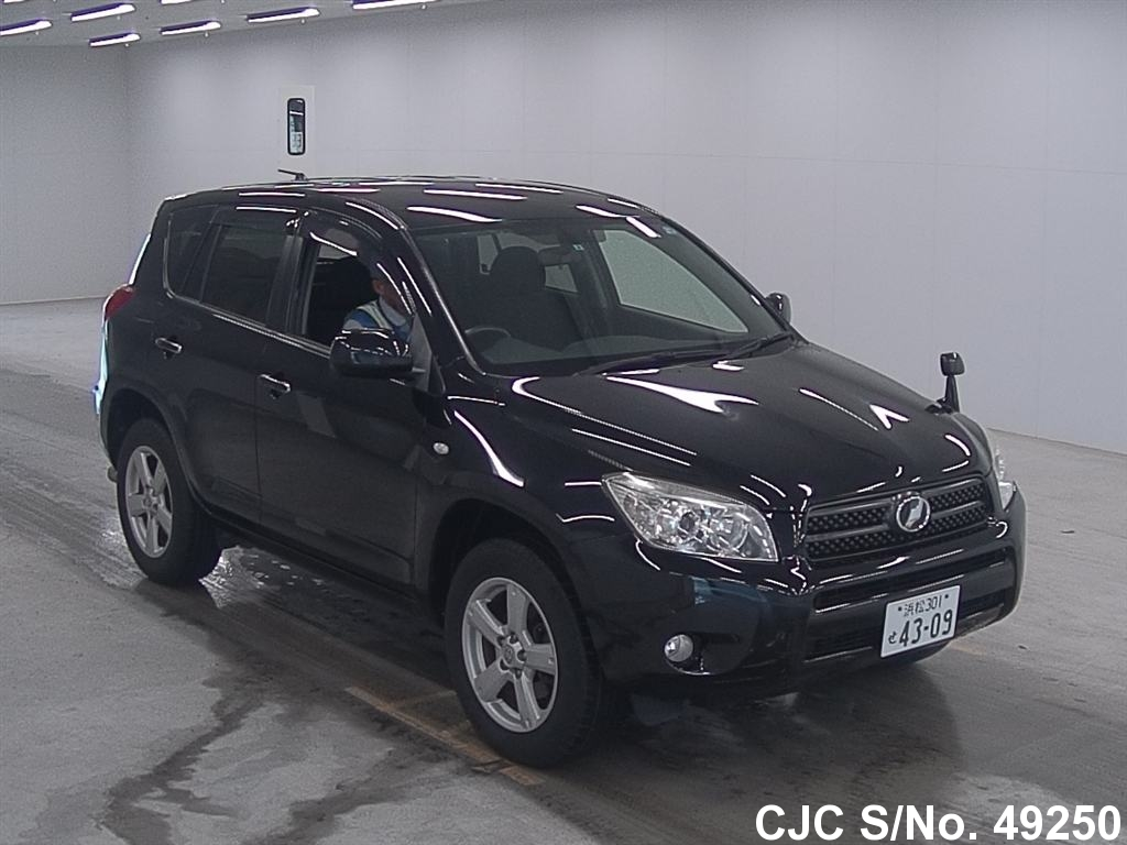2007 toyota rav4 black for sale stock no 49250 japanese used cars exporter. Black Bedroom Furniture Sets. Home Design Ideas
