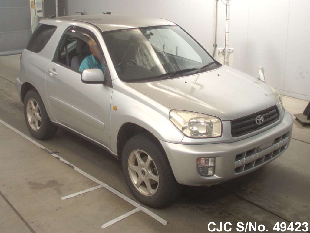 2001 toyota rav4 silver for sale stock no 49423 japanese used cars exporter. Black Bedroom Furniture Sets. Home Design Ideas