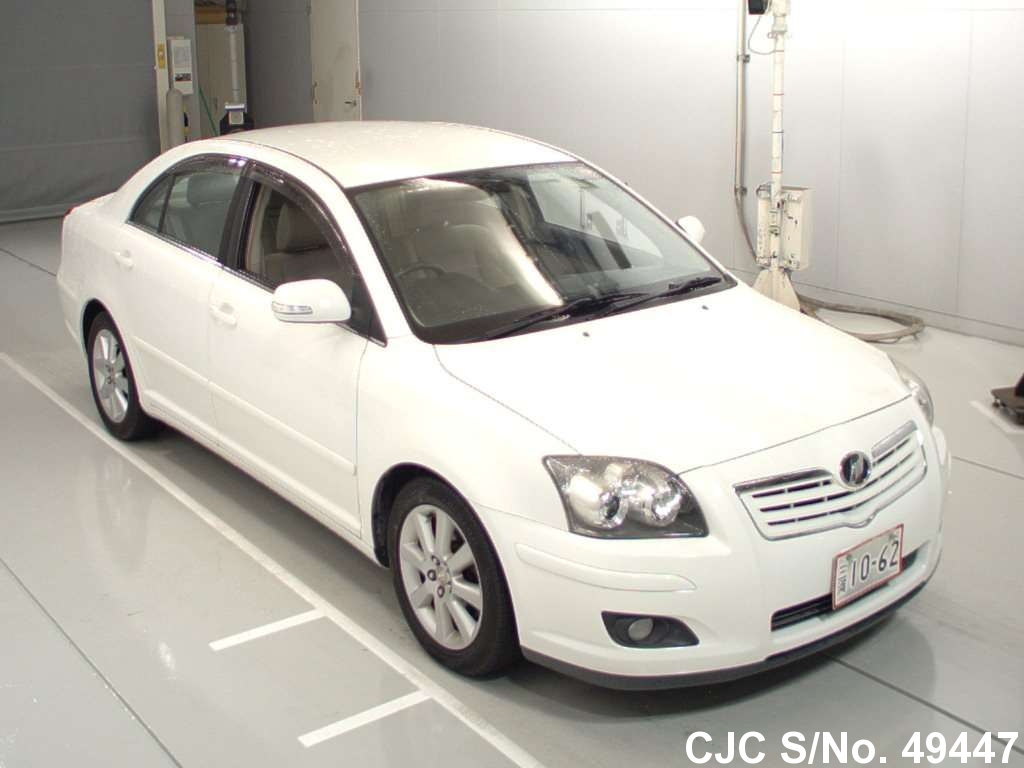 2007 toyota avensis white for sale stock no 49447 japanese used cars exporter. Black Bedroom Furniture Sets. Home Design Ideas