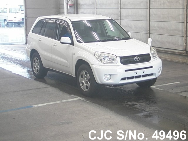2005 toyota rav4 white for sale stock no 49496 japanese used cars exporter. Black Bedroom Furniture Sets. Home Design Ideas