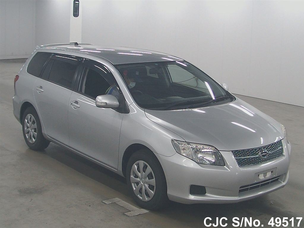 2007 toyota corolla fielder silver for sale stock no 49517 japanese used cars exporter. Black Bedroom Furniture Sets. Home Design Ideas