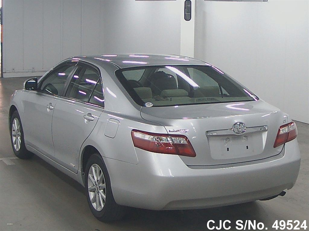 2009 toyota camry silver for sale stock no 49524 japanese used cars exporter. Black Bedroom Furniture Sets. Home Design Ideas