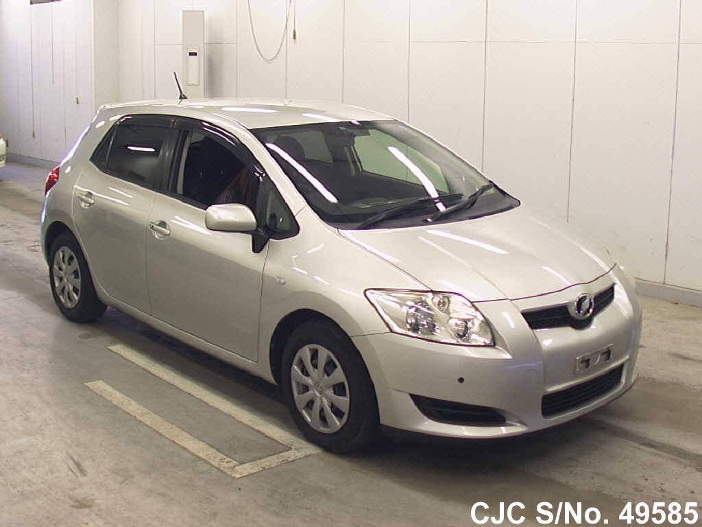 2007 toyota auris silver for sale stock no 49585 japanese used cars exporter. Black Bedroom Furniture Sets. Home Design Ideas